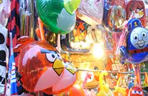 View of a balloon stall at a Children's Themed Market