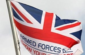 Armed forces Union Jack flag