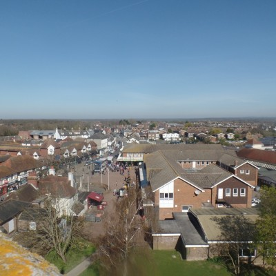 Aerial View of Hailsham Town Centre