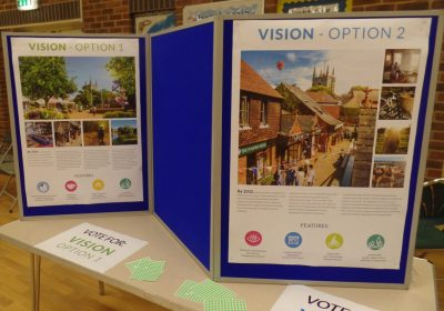 Photo of Neighbourhood Plan public consultation display board