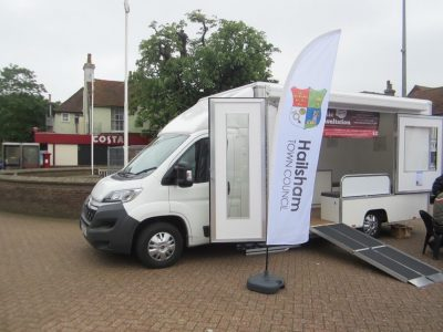 Photo of Hailsham Neighbourhood Plan information vehicle