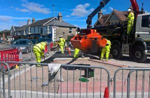 Hailsham town centre roadworks