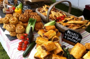 Market stall pastries