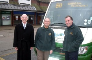 Cuckmere Buses, photo of staff and bus