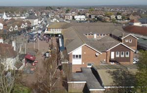 Hailsham Town Aerial View of the town