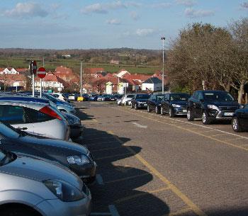 Photo of car park in Vicarage Lane