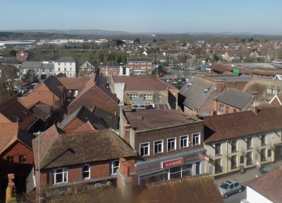 Photo of aerial view of Hailsham town centre