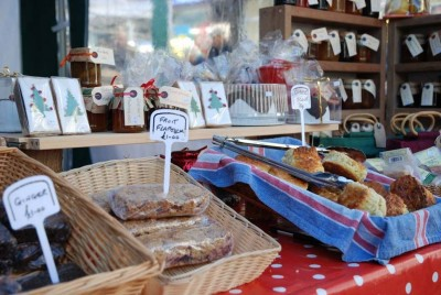 Photo of vgiew of a stall at Hailsham Farmers' Market