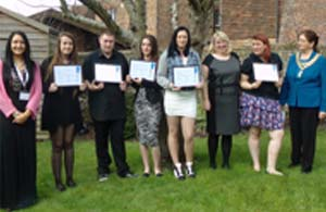Picture of young employment trainees graduation