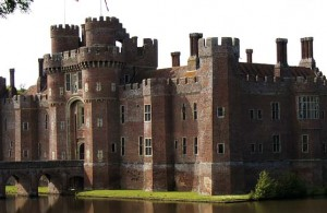 view of Herstmonceux Castle near Hailsham