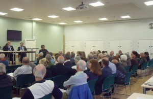 Photo of residents attending the annual town meeting