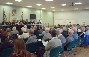 Photo of residents attending the council meeting