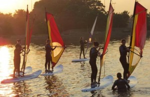 Windsurfing with the Hailsham Friday Night Project
