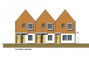 Artists representation of Hailsham's New Council Homes