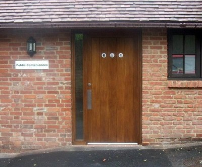 Photo of the new public toilets in Hailsham