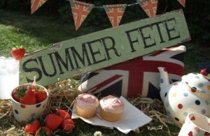 photo of a summer fete sign