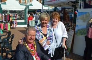 Summer Market - Mayor Cllr Nigel Coltman - WDC Chair Cllr Barby Dashwood-Morris - Dep Mayor Cllr Amanda O Rawe
