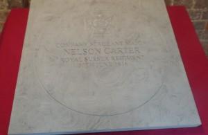 Memorial Stone for Nelson Carter