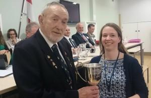 Hailsham Hero Award Recipient Mike Weller and SCDA Project DEvelopment Officer Alice Matthews