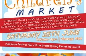 Hailsham Children's Market advert poster