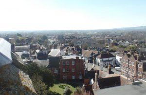 Aerial view of Hailsham