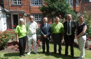 Environment Hailsham Volunteers with South & Southeast in Bloom judges and Deputy Town Clerk Mickey Caira