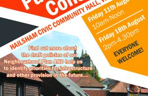 Hailsham Neighbourhood Plan public information drop-in event poster advert