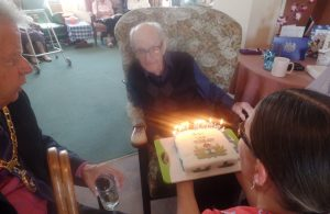 Mayor Joins 100th Birthday Celebrations at Local Care Home`