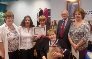 Amanda O'Rawe and Age Concern Hailsham volunteer award winners