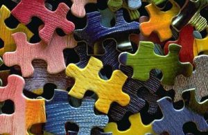 Jigsaw puzzles pieces