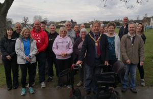 Nigel Coltman with public on Western Road Recreation Ground