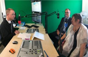 Hailsham FM Studio - Grant De Jongh and Mary Laxton