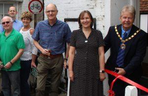 Nigel Coltman opens new Foodbank office in Hailsham