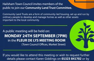 Community Land Trust Committee public meeting advert poster