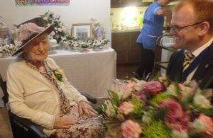 Grant De Jongh Joins 100th Birthday Celebrations at Local Care Home