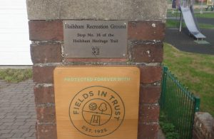 Plaque at Western Road Recreation Ground