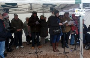 Hailsham Christmas Market choir 2018
