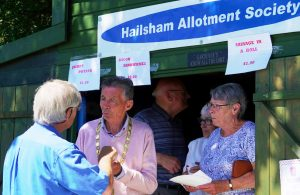 Mayor Cllr Paul Holbrook at Hailsham Allotment Society open day event