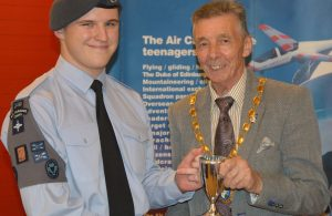 Best Cadet with Mayor Cllr Paul Holbrook