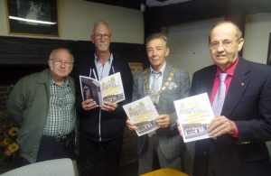 Cllrs Gavin Blake-Coggins and Paul Holbrook with local history author David Dyer