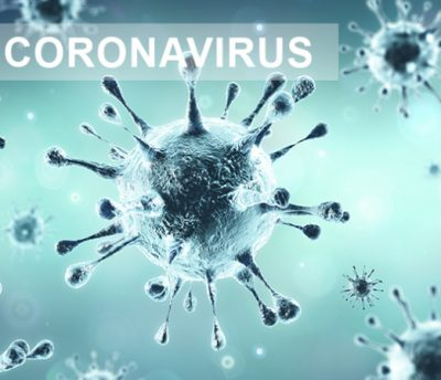 Image of microscopic coronavirus