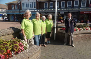 Town Mayor cllr Paul Holbrook pictured with Environment Hailsham volunteers