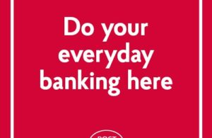 Post Office Advert Image text: Do Your Everyday Banking Here