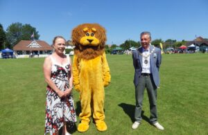 Phot of Town Mayor Cllr Paul Holbrook at the Hailsham Lions Family Fun Day