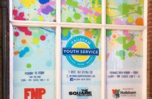 Photo of front of Square Youth Cafe building